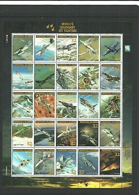 MARSHALL ISLANDS - 1995 JETFIGHTERS Sheet of 25 *MINT UNHINGED*
