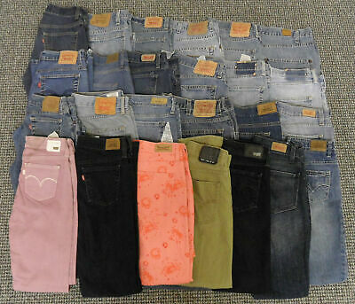 Wholesale Job Lot Mens & Womens Youth Grade Levi's Jeans X 25 Pairs : SW3