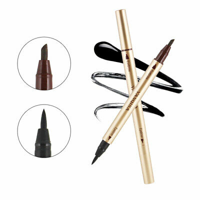 1Pcs Waterproof Dual-Ended Liquid Eyeliner Pen Long Lasting Double-End Makeup US