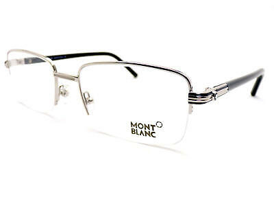 MONT BLANC Men's Spectacles Glasses Supra Frame Silver MB0478 016