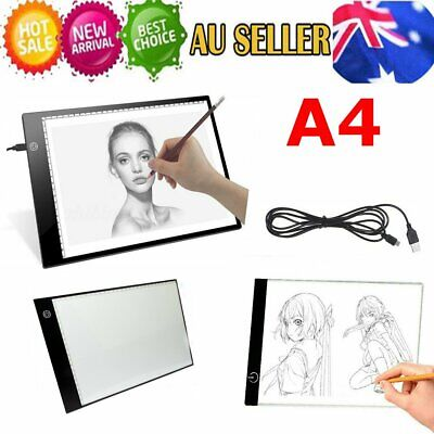 A4 LED Light Box Tracing Board Art Design Stencil Drawing Pad Copy Lightbox