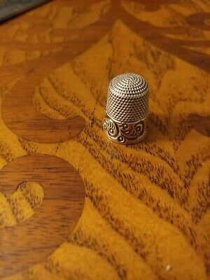Antique Vintage Old Sterling Silver Sewing Thimble 5.2 grams