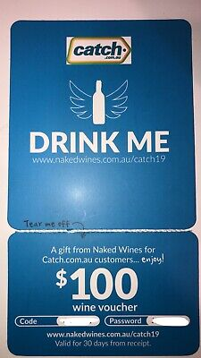 $100 Naked Wines voucher From Catch