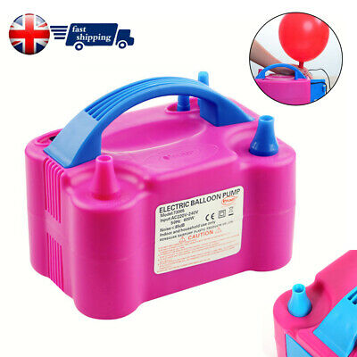 NEW! Portable 600W Dual Nozzle Electric Balloon Pump Inflator Air Blower Party