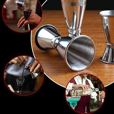 inossidabile Acciaio Cocktail Jigger Double Single Shot Misura Drink Cup #ST4
