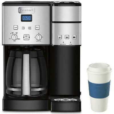 Cuisinart 12-Cup Coffee Maker and Single-Serve Brewer Stainless Steel (SS-15) wi