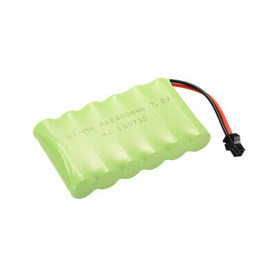 AA NI-MH 7.2V 2400mAh Battery Rechargeable +USB Charger Cable for Car Toys BC751
