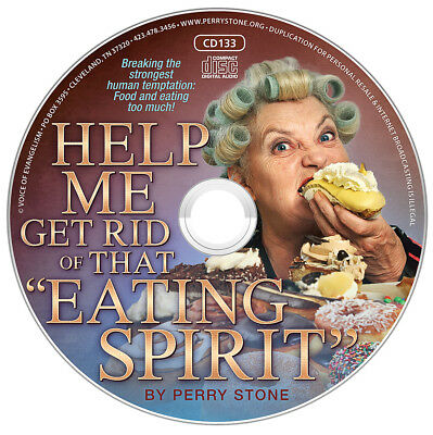 "PERRY STONE-""Help Me Get Rid Of That ""Eating Spirit""-CD-NEW-Breaking Stronghold"