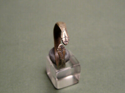 Ancient Snake Ring Silver Roman 100-300 Ad