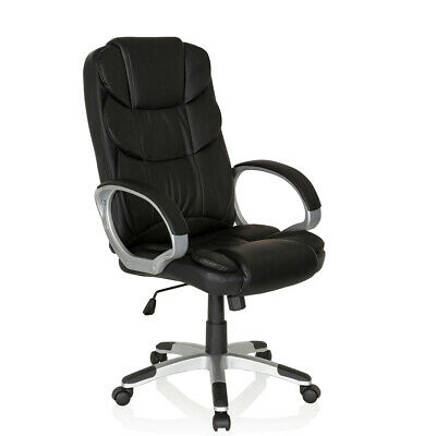 Executive Office Chair Black PU Leather Swivel Chair Computer Stool RELAX BY155