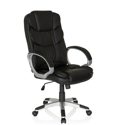 Executive Office Chair PU Leather Swivel Computer High Back Black RELAX BY155