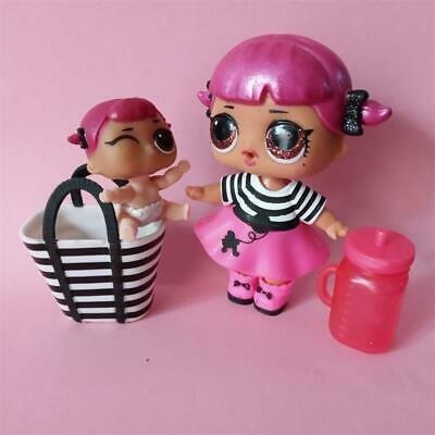 LOL Surprise CHERRY GLAM GLITTER Family Series 2 & Lil sister & pet toy dolls