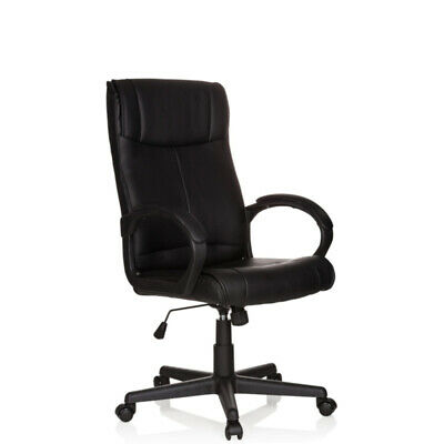 Executive Office Chair Recliner Swivel Computer Chair PU Leather Black PILOT