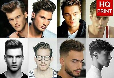 MENS HAIR SALON Print BARBER Shop Poster HAIRDRESSER Hairstyle A4 A3 *LAMINATED*