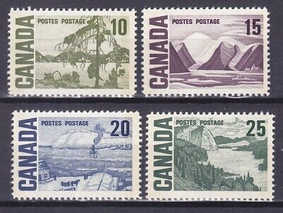 Canada 462p-465p MNH 1972 (10c-25c) Phosphor Tagged Issues Very Fine