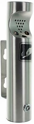 Elitra Wall Mounted Outdoor Stainless Steel Cigarette Butt Receptacle, Silver