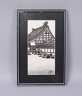 Estate Framed Gihachiro Okuyama Tofukuji Temple Kyoto Japanese Woodblock Print