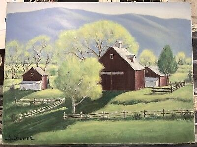 "Albert Alvin Stetter (1907-2008) ""Spring In Vermont"" Oil On Canvas Unframed"