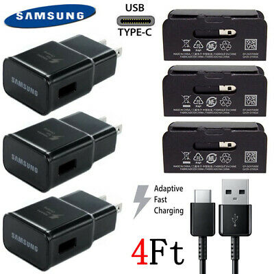 Original Samsung Galaxy S9 S8 S8Plus Note 8 Fast Oem Wall Charger Type - C Cable
