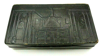 French Napoleonic Period Pressed Cow Horn Snuff Box