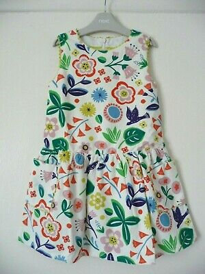 Mini Boden New Pretty Spring Floral Cord Dress 5-6 Years £32 Girls Pinafore