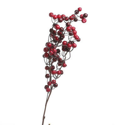Festive Mixed Red Artificial Berry Stems