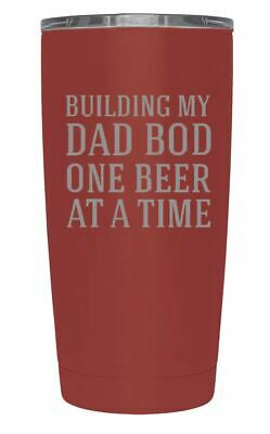 438a98f980f Father's Day TSC Powder Coated Building My Dad Bod 20 oz Engraved Tumbler