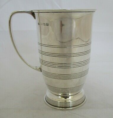 Antique George V sterling silver mug, 1936, 201 grams