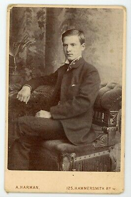 Handsome dapper well dressed young man in antique  Cabinet Card photo