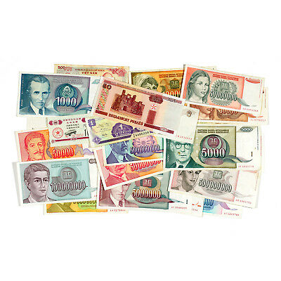 Lot of 24 different countries world paper money circ.-Unc.
