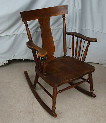 Antique Oak Rocker Rocking Chair with arms – Original finish