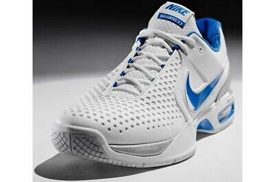 buy popular bf11c 069c4 Nike Court Ballistec Cage 3.3 Grey and Blue Size 8.5