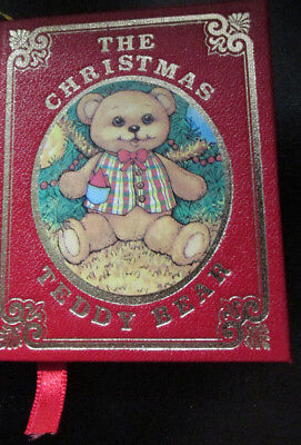 Vintage 1984 Kurt S. Adler The Christmas Teddy Bear Book Christmas Ornament