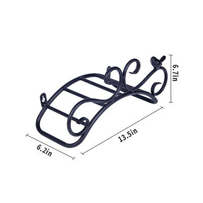 """13.8"""" Cast Iron Antique Wall Mount Hose Hanger Deluxe Heavy Duty Easily Holds"""