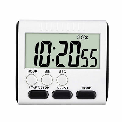Magnetic Large |LCD Digital Kitchen Cooking Timer Loud Alarm Count Up Down Clock