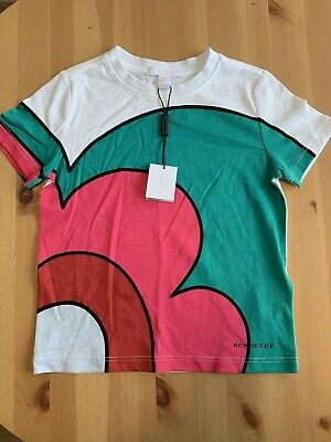 NWT Burberry Toddler Boys Graphic Tee 4t