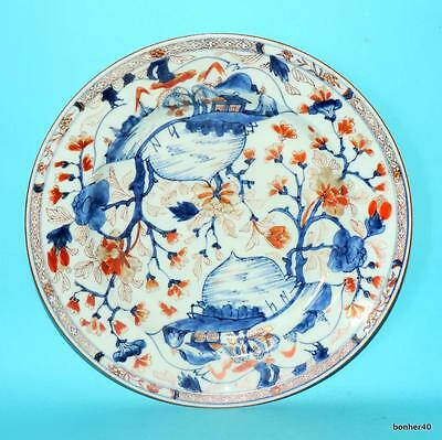 Big Chinese Export Porcelain 18Thc Antique Imari Large Charger Plate