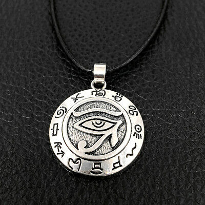 Egyptian Eye of Horus Ra Udjat Amulet Talisman Pendant Choker Chain Necklace