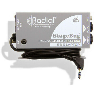 RADIAL SB-5 Laptop Stereo StageBug Compact Passive DI Box NEW