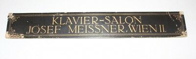 Original Antique Sign Klavierbauer Piano Klavier-Salon Josef Meissner Vienna II
