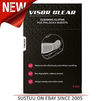 Pinlock Visor Clear Cleaning Cloths - 8 Sets wet/dry | Scratch-free | For Visor