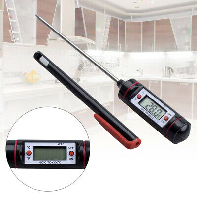 Digital LED Read Kitchen Cooking BBQ Grill Food Meat Probe Thermometer