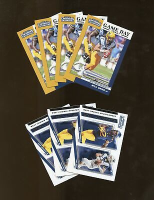Lot of 7 2019 Contenders Draft Game Day Ticket Connections WILL GRIER WVU (AY21)