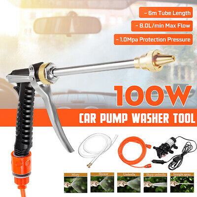 12V 100W 200PSI High Pressure Car Washer Cleaner Water Wash Pump Sprayer 6m Tube