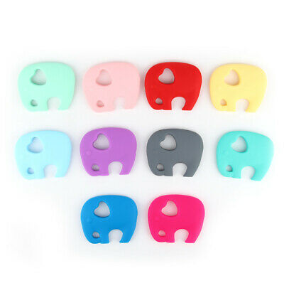 Baby Silicone Teether Bead Teething Training Toy Chewable Necklace Jewelry DIY