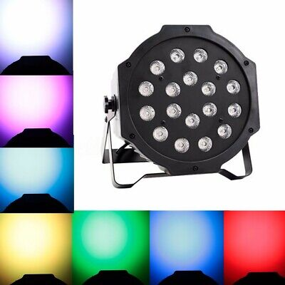 18W RGBW Sound Active18 LED Par Stage Strobe Solar Light DMX-512 Party DJ Disco