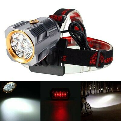 90000LM 7x T6 LED Headlamp Headlight Torch Bike Lamp Battery Charger Taillight