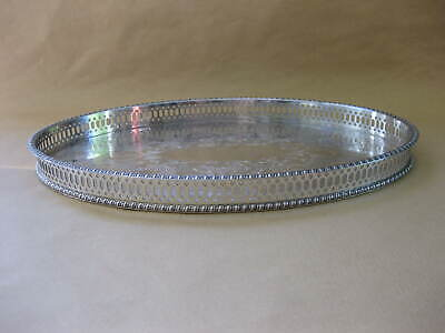 Vintage Silver Plated Gallery Tray ~ Parkin Silversmiths ~ Chased Decoration