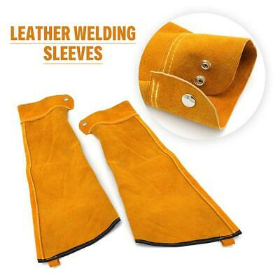 Heat Resistant Leather Welding Sleeves Spark Resistant Case Cover Button Closure
