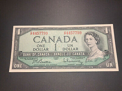 1954 Bank of Canada $1 Queen Elizabeth II Old Bill Nice Shape! C/P 4457799